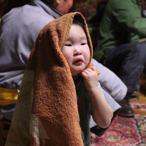 Day 75, 5 Feb 2014 -  Visiting a Mongolian Family, Mongolia
